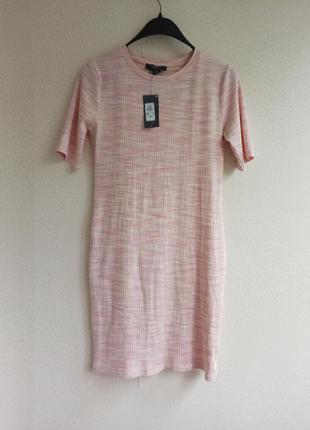 Платье футболка/ рубчик / вискоза