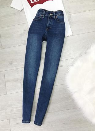 Скіні джинси з високою посадкою topshop
