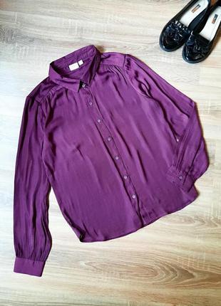 Блуза шелковая рубашка