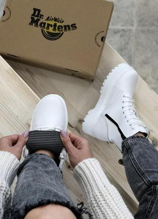 Ботинки сапоги dr martens jadon white