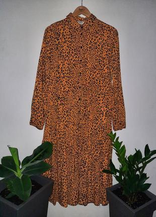 Шикарное ярусное миди платье с длинным рукавом
