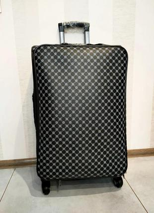 Шикарный большой чемодан из канваса