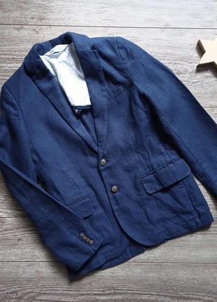 Крутой пиджак блейзер из льна h&m 8-9 лет.