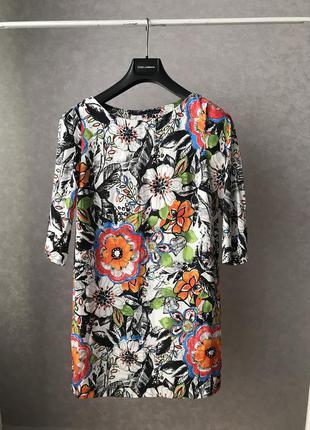 Шикарное яркое платье zara p.m