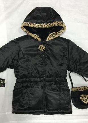 Куртка-шубка 2-х сторонняя big chill , m(5/6 лет)