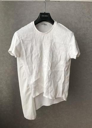 Ассиметричная блуза жатка zara p.м