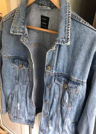 Джинсовка bershka oversized джинсовая куртка