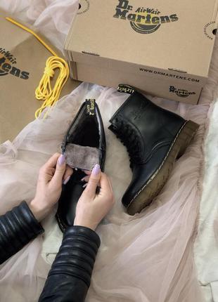 Ботинки сапоги dr martens 1460 classic fur