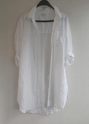 Пляжное платье - рубашка / оверсайз