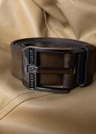 Крутий шкіряний ремінь пояс diesel leather belt