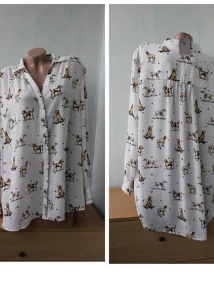 Блуза с собачками tu, батал
