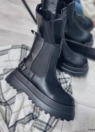 Челси ботинки на толстой подошве
