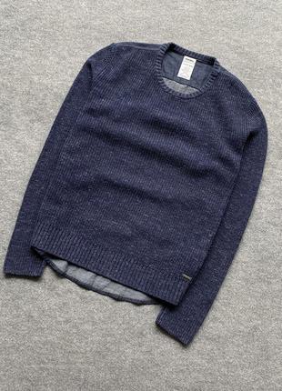 Дуже крутий свитер з джинсовою спиною від dieselsuperior quality knit seeate