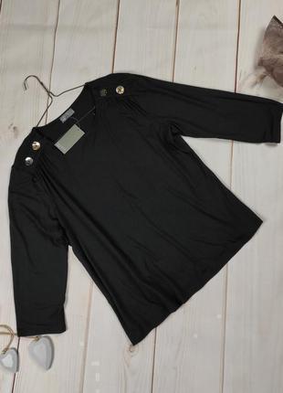 Блуза кофточка новая модная с золотыми пуговицами papaya uk 16/44/xl