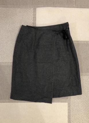 Шерстяная юбка на запах natan!