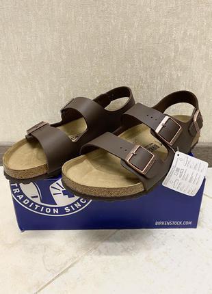 Шлепанцы / сандали birkenstock milano bs 0034701 dark brown (crocs)