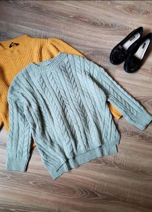Вязаный свитер кофта реглан
