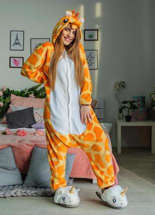 Пижама кигуруми жираф - женская мужская детская - піжама кігурумі