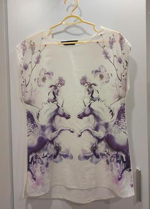 Блузка с единорогами