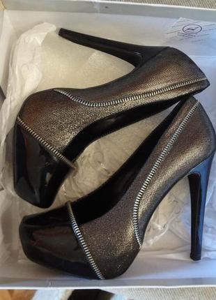 Натуральная кожа! туфли jessica simpson на каблуке и платформе c asos