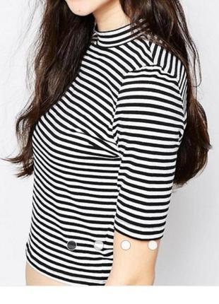 Блуза кофточка топ новая в полоску трикотажная h&m s