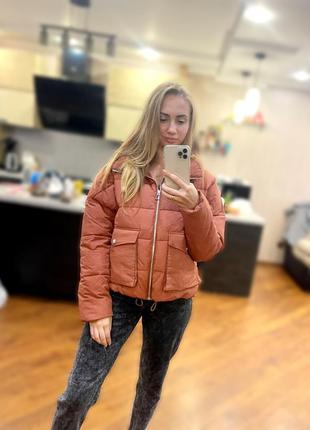 Стильный пуффер, курточка оверсайз, куртка