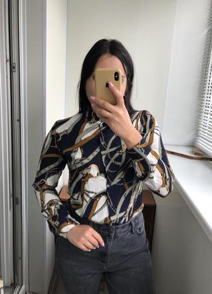 Рубашка блузка блуза с цепочками цепями модная