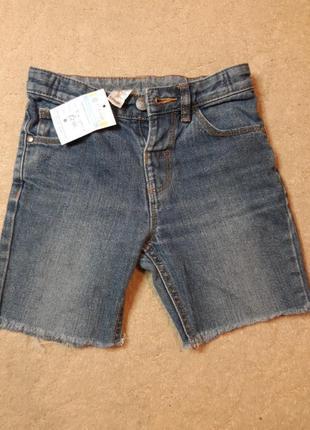 Джинсовые шорты george  на мальчика 5-6 лет