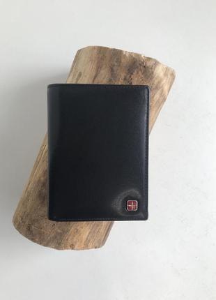 Мужской кошелёк портмоне из натуральной кожи с rfid защитой
