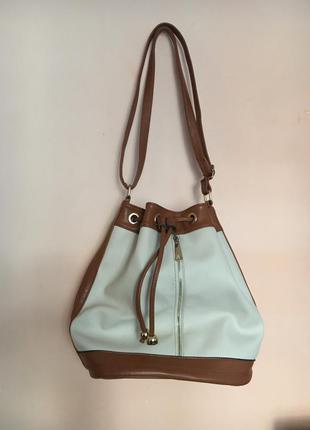 Шкіряна фірмова сумка /рюкзак /мешок