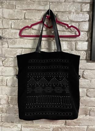 Большая сумка шоппер из кашемира