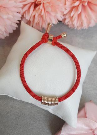 Браслет красная нить со вставками из медицинского золота xuping 15-16cm