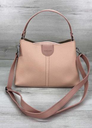 Женская сумка среднего размера пудровая сумка через плечо клатч через плечо сумка трапеция