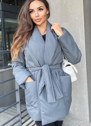 Шикарна курточка з поясом 😍 5 кольорів 🌈 якість 👍