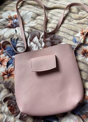 Маленькая сумочка пудровая