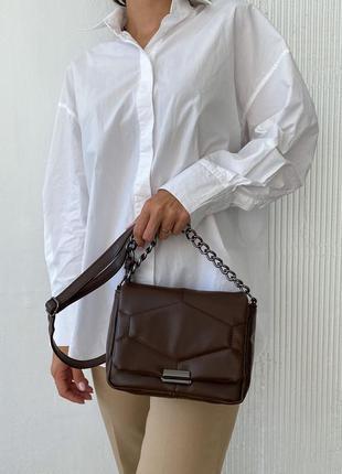 Стьобана сумка через плече
