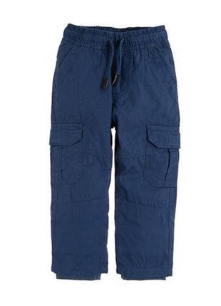Тёмно синие штаны брюки утеплённые фликом на мальчика