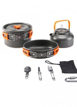Набор посуды походный cooking set ds - 308/70441