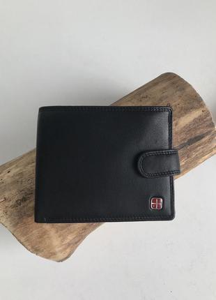 Кожаный карманный мужской кошелёк с защитой от считывания карт albatross