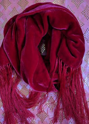 Вінтаж  шарф. оксамит бархат з шовком