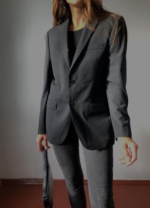 Чёрный базовый оверсайз пиджак