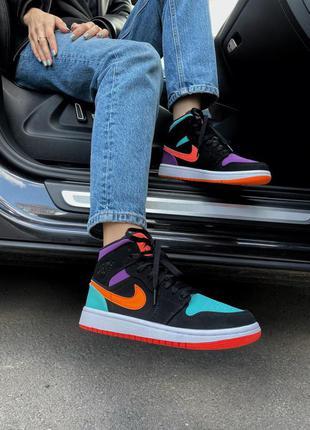 Air jordan 1 multicolor  кроссовки найк аир джордан наложенный платёж купить