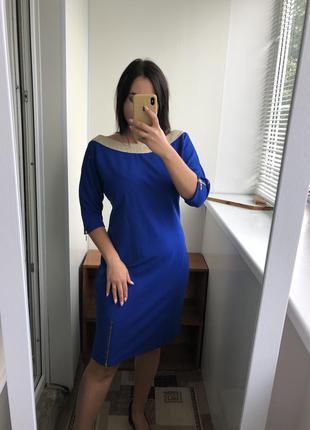 Шикарное темно синие платье сукня плаття нарядное с утяжкой