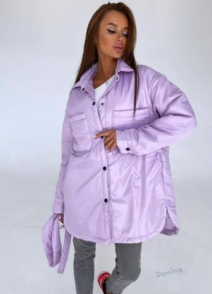 Стильная женская куртка-рубашка в  самых популярных цветах