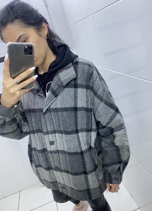 Шикарная тёплая рубашка/пальто 💗 46р.