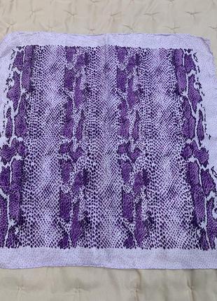 Шелковый платок, натуральный шелк, принт змея