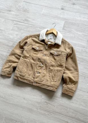 Шерпа вельветовая шерпа курта с мехом
