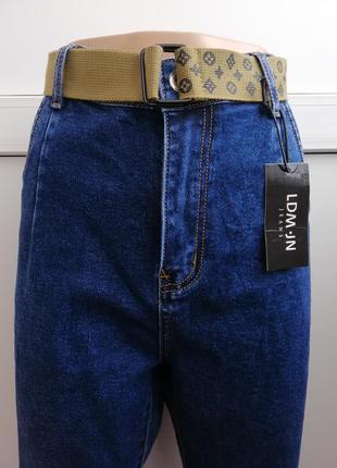 Джинсы мом женские синие новые