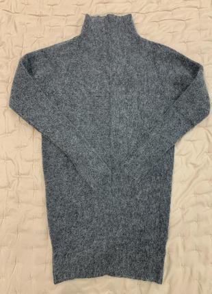 Шерстяной свитер, туника, шерсть, мохер
