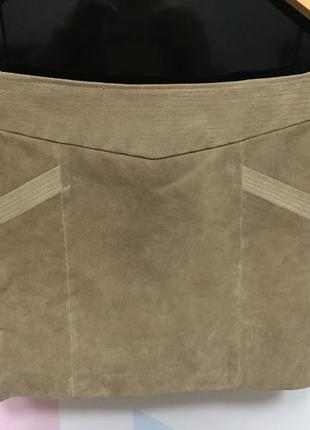 Женская кожаная юбка mango, новая